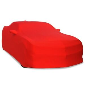 2016 2018 Chevy Camaro Stretch Satin Indoor Car Cover Red