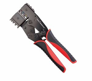 Twin Head Ratcheting Electrical Crimping Pliers Insulated Non Insulated T243500