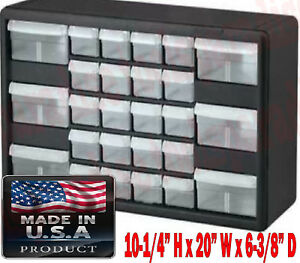 26 Drawer Parts Bin Organizer Cabinet Container Compartment Box Akml