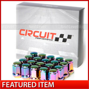 Circuit Performance Neo Chrome Bulge Acorn Hex Lug Nut 12x1 25 1 4 Tall 20pc