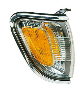 Corner Side Marker Light For 01 04 Toyota Tacoma Pickup Chrome Passenger Right