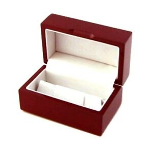12 Rosewood Mens Cufflinks Boxes Jewelry Display Cuff Links Gift Boxes