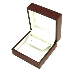 12 Rosewood Large Drop Dangle Hoop Earring Boxes Jewelry Display Gift Boxes