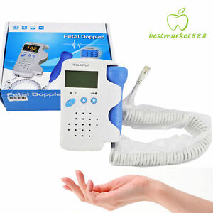 Usa Fetal Doppler Baby Heart Beat Rate Detect Monitor Pregnancy And 3mhz Probe
