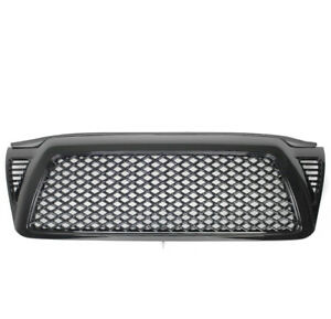 2005 2011 Toyota Tacoma Pickup Gloss Black Front Upper Top Mesh Grille Grill New