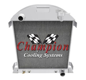 1928 1929 Ford Model A W Chevy Configuration 3 Row Champion Aluminum Radiator