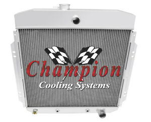 1957 58 59 1960 Ford F 100 3 Row Champion Adv Radiator W Chevy Configuration
