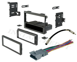 Complete Stereo Radio Install Dash Kit Single Wire Harness And Antenna Adapter