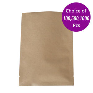 4x6in Wholesale Kraft Paper Open Top Pouch Bag With Heat Seal Machine 605