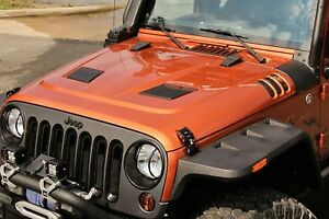 Jeep Wrangler Jk Performance Vented Hood With Hood Vent Screens