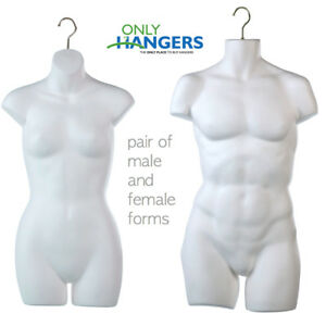 Only Hangers New Male Female Torso Body Mannequin Forms With Hook For Hanging