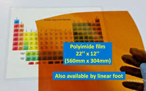 Polyimide Kapton Film 5mil Thick Extra Wide 22 X 12 Avail By Linear Foot