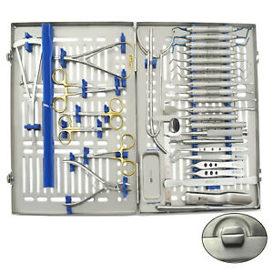 33 Pcs Advanced Dental Implant Surgery Implantology Kit Surgical Instruments Lab