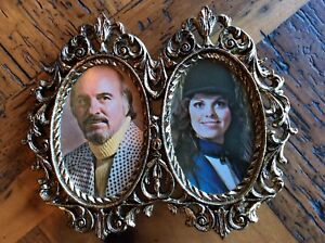 Vintage Oval Metal Picture Frame Metal With Awesome Retro Images