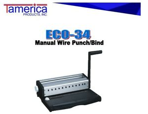 Manual 3 1 Wire Punch Bind Machine