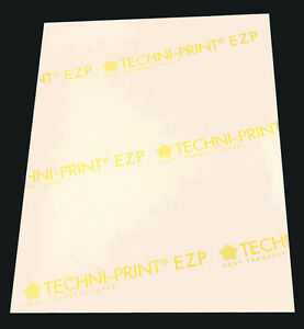 100p 8 5x11 Techni print Ezp Laser Transfer Paper For Light Heat Press Iron on