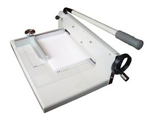 New 17 Manual Paper Cutter Trimmer Heavy Duty Cuts Upto 300shts Thick Stack