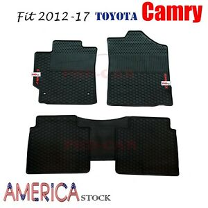 Premium Qualit Tailor Made All Weather Rubber Floor Mats Fit Camry 2012 17