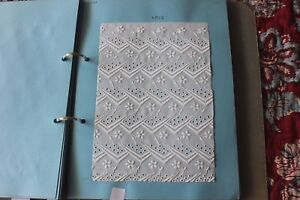 Swiss Antique Cotton Batiste Cutwork White Embroidery Sample Book 27 Samples