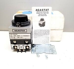 New Agastat 7022ae Timer 7000 Series Time Delay Relay 20 200 Sec