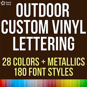Custom Outdoor Vinyl Lettering Numbers Decal Car Truck Boat Window Glass Sticker