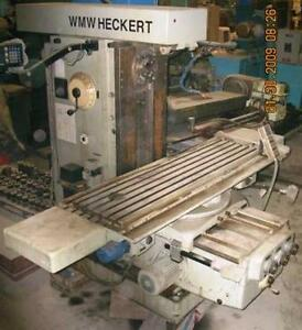 Wmw Heckert Knee Type Milling Machine Fu450x1800