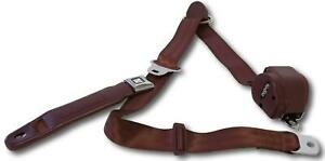 Retrobelt 73 91 Gm Truck Bucket Seat 3 Point Retractable Seat Belts Burgundy