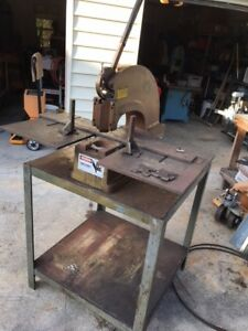 Di acro Houdaille Punch 2 With Extended Work Surface And Steel Table