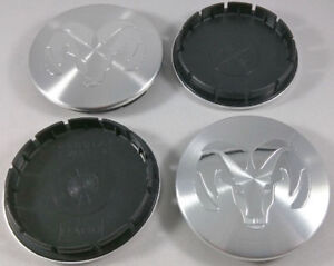 Set Of 4 1996 2004 Dodge Ram 2 5 Machined Silver Center Caps 63mm Hub Caps