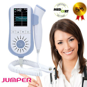Jumper 2 5mhz Probe Baby Heartbeat Fetal Doppler Lcd Screen Pregnant Monitor Fda