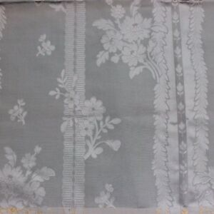 Lovely French 19thc Antique Ice Blue Silk Damask Fabric Home Sample 27 Lx25 W