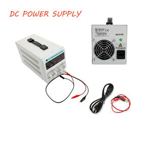 Dc Power Supply 30v 10a Precision Variable Digital Adjustable Clip Cable Durable