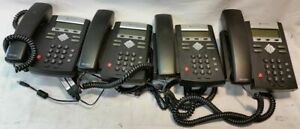 Lot Of 4 Polycom Soundpoint Ip 335 Sip Business Telephone W Ac Adapter Used