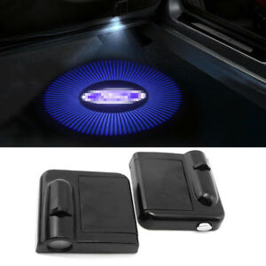 2pcs Door Projector Car Logo Led Shadow Lamp Wireless Courtesy Lasers Fits Ford