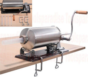 Stainless Steel Hand Crank Hot Link Sausage Maker Stuffer Table Top Mount