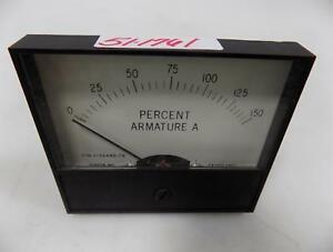 Dixson Panel Meter 0 150 Percent Armature Amp 1034449 78