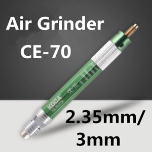 1 8 Pneumatic Grinder Ce 70 Tool Air Micro Pencil 70000rpm Chuck 2 35mm 3mm