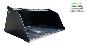 New Powder Coated 66 Snow mulch dirt gravel Bucket For Skid Steer Local Pick Up