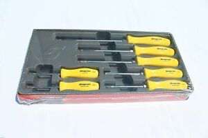 Snap On 7 Piece Rare Yellow Hard Handle Combination Screwdriver Set Brand New