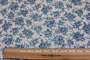 Beautiful Blue Rose Genuine Vintage Cotton Feed Sack Fabric C1940 1950 26 Lx38 W
