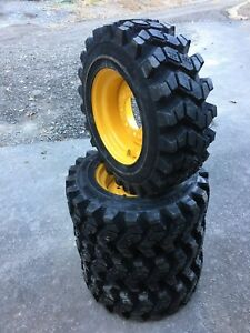 4 Camso Sks753 10 16 5 Skid Steer Tires wheels rims For New Holland 10x16 5