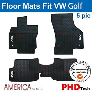 Vw Golf Mk7 7 5 Tailor Custom Made All Weather Rubber Floor Mats Red Trim