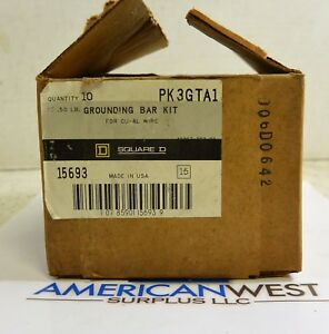 Pk3gta1 Square D Grounding Bar Kit Lot Of 6 Units New In Package