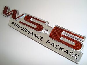 Ws6 Emblem Sunset Orange Carbon Fiber Design Pontiac Trans Am Firebird Licensed
