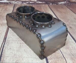 Cup Holder Bomber Seat Hot Rod Rat Rod Seats Center Console Shorty Bare Steel