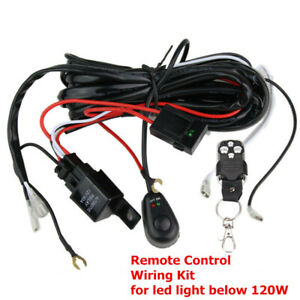 40a 12v Wiring Kit With Wireless Remote Control For Led Light Bar Offroad 2 Lead