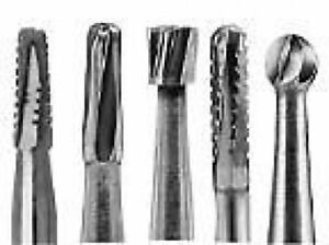 All Sizes Tungsten Steel Carbide Burs operative Trimming finishing Surgical