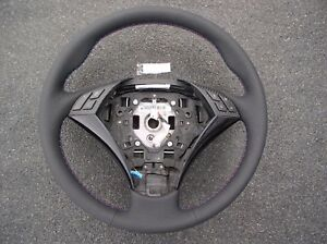 Bmw E60 61 New Factory Leather Heated Steering Wheel thumb Rests m Stitch Carbon