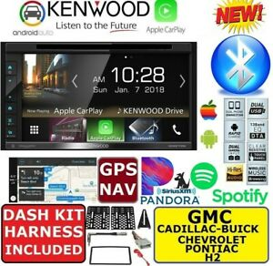Kenwood Cd Dvd Gps Navigation System Bluetooth Apple Carplay Android Auto Stereo