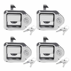 Set Of 4 Toolbox Lock Door Key Latch Paddle Handle Rv Trailer 4 3 8 X 3 1 4